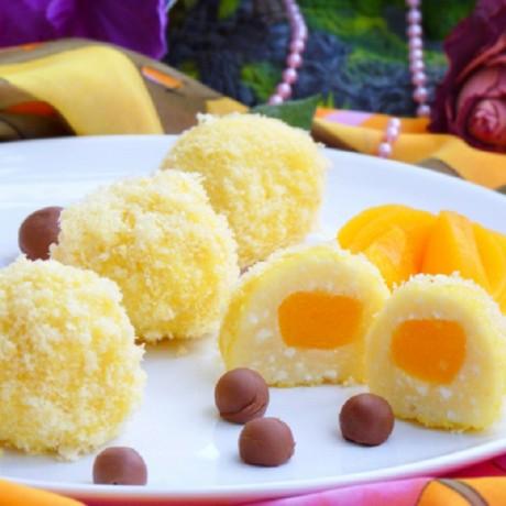 Творожный десерт с фруктами  — «Солнышки» из творога
