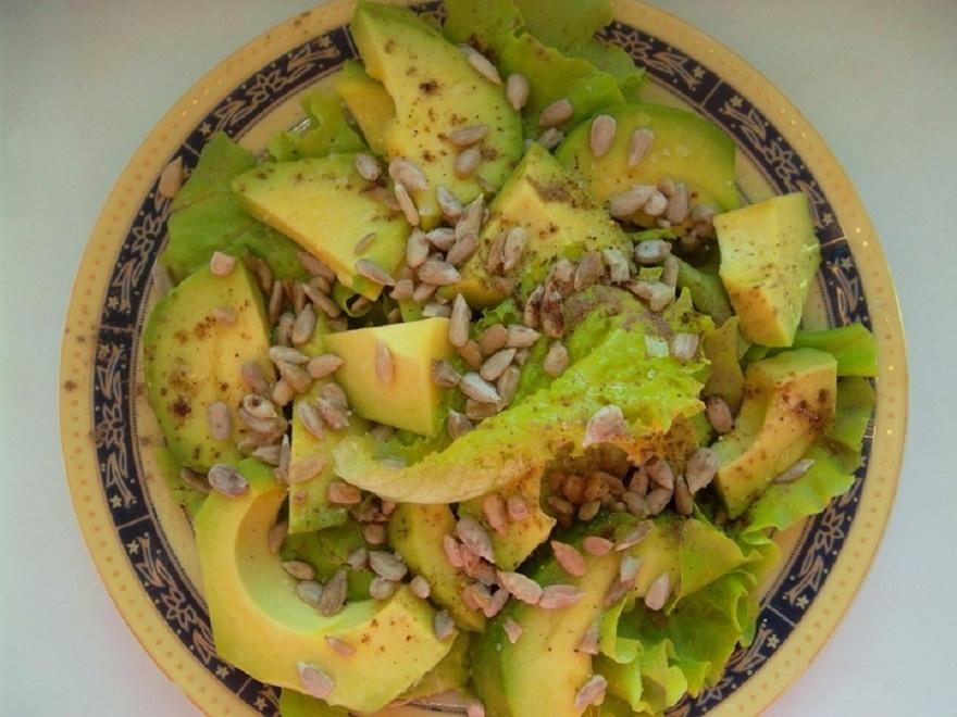 Рецепт салата из авокадо пошагово с