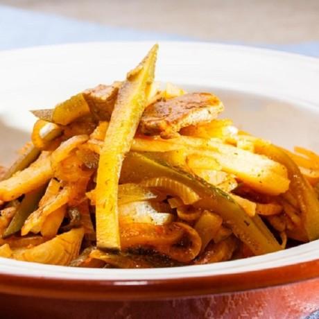 Мясное азу с картофелем