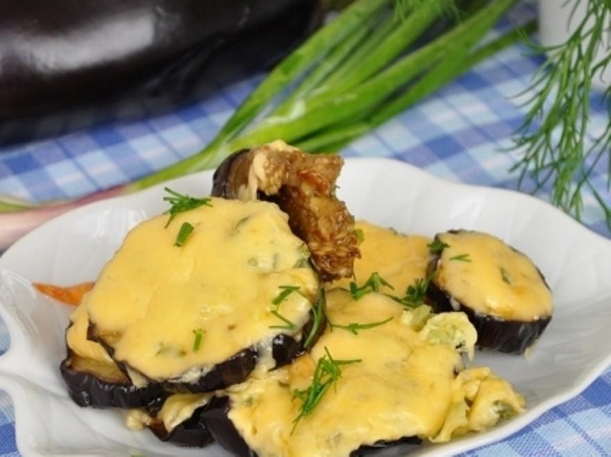 Баклажаны с чесноком и сыром в мультиварке