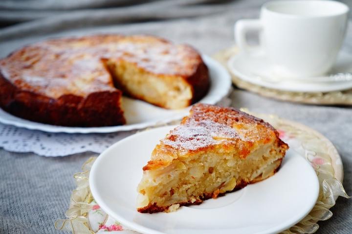 Шарлотка с яблоками на кефире пошаговый рецепт в