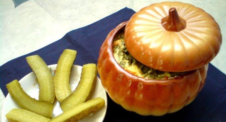 Картошка с колбасой в горшочках в духовке рецепт пошагово