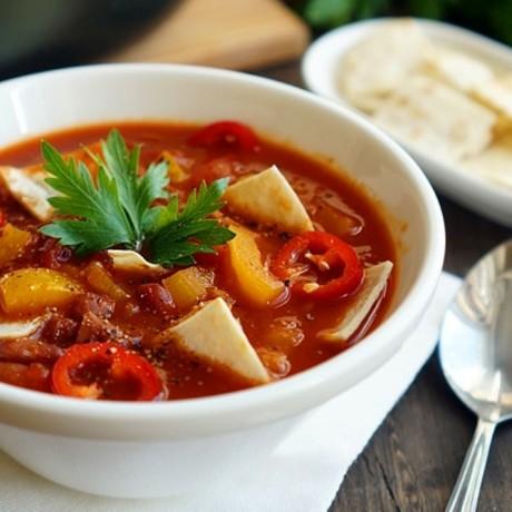 Мексиканский суп с чипсами