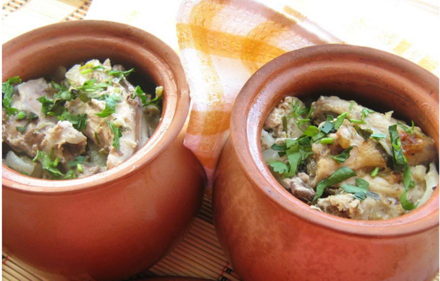 Блюдо в горшочке в духовке рецепты с фото с
