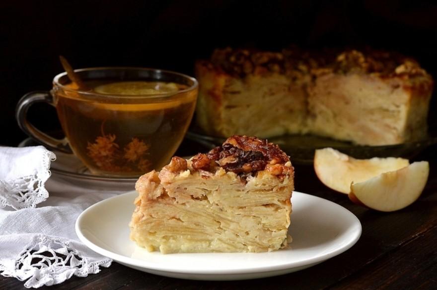 Яблочный пирог «Невидимка»