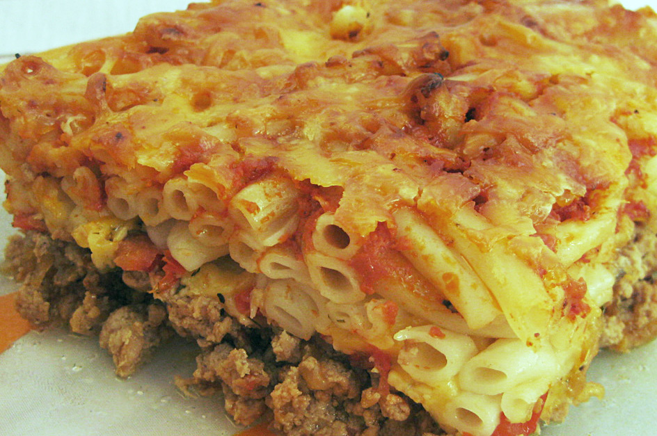 том, фото рецепт макаронной запеканки с фаршем жаркое