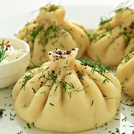 Хинкали с мясом по грузински традиционные