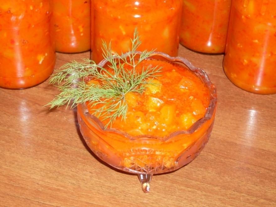 Салат из кабачков на зиму «Тещин язык»