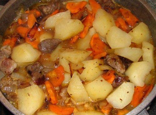 Рецепт тушеное мясо с картошкой пошагово в