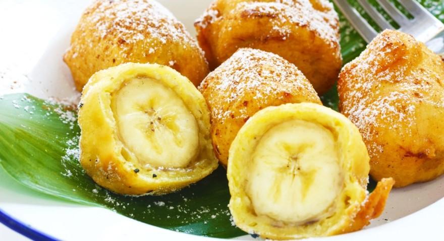 Жареных бананов в кляре