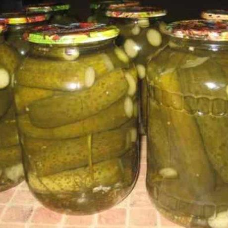 Рецепт консервированных огурцов на зиму