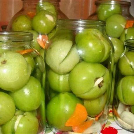 Зеленые помидоры на зиму «Пальчики оближешь»