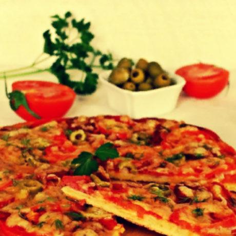 Пицца на сметане