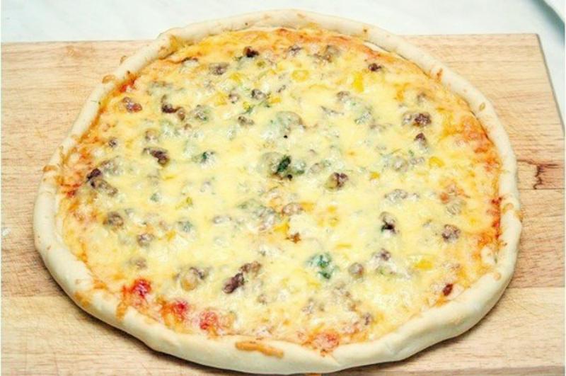 с с фото пицца фаршем пошагово